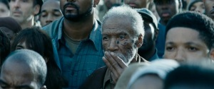 catching fire old man