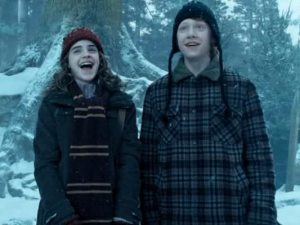 Hermione ron laughing